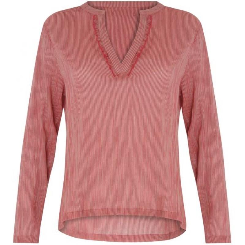 Coster Copenhagen Striped Cotton Shirt Rose Dust/Raspberry