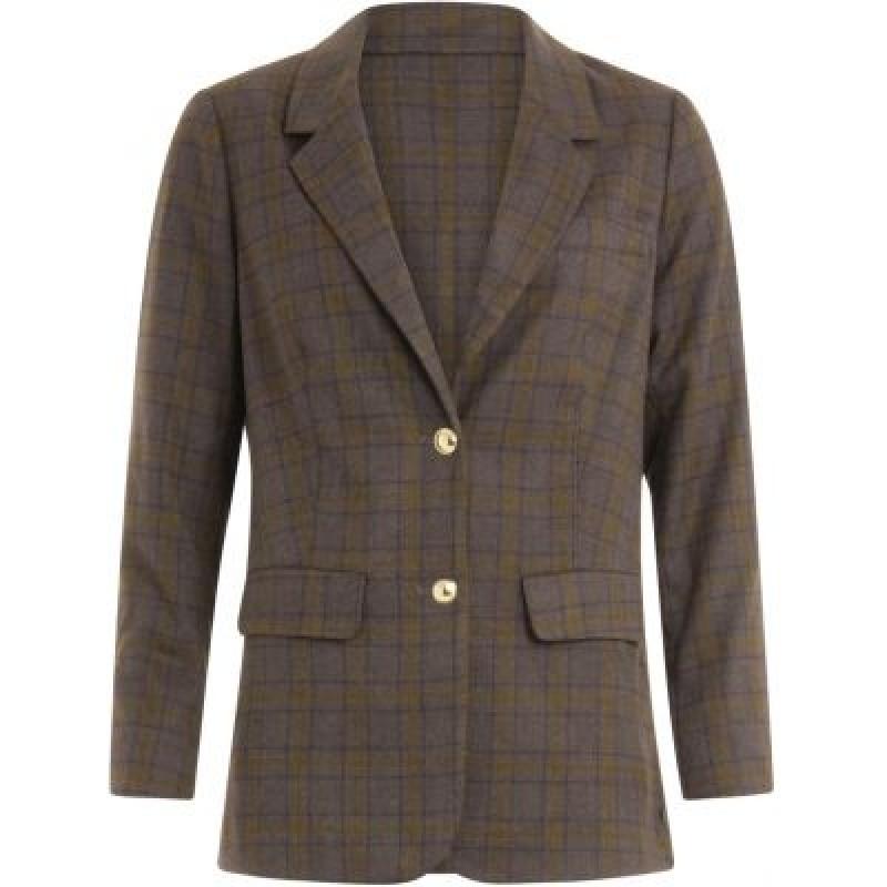 Coster Copenhagen Suit Jacket In Checks Thunder/Grey/Mustard