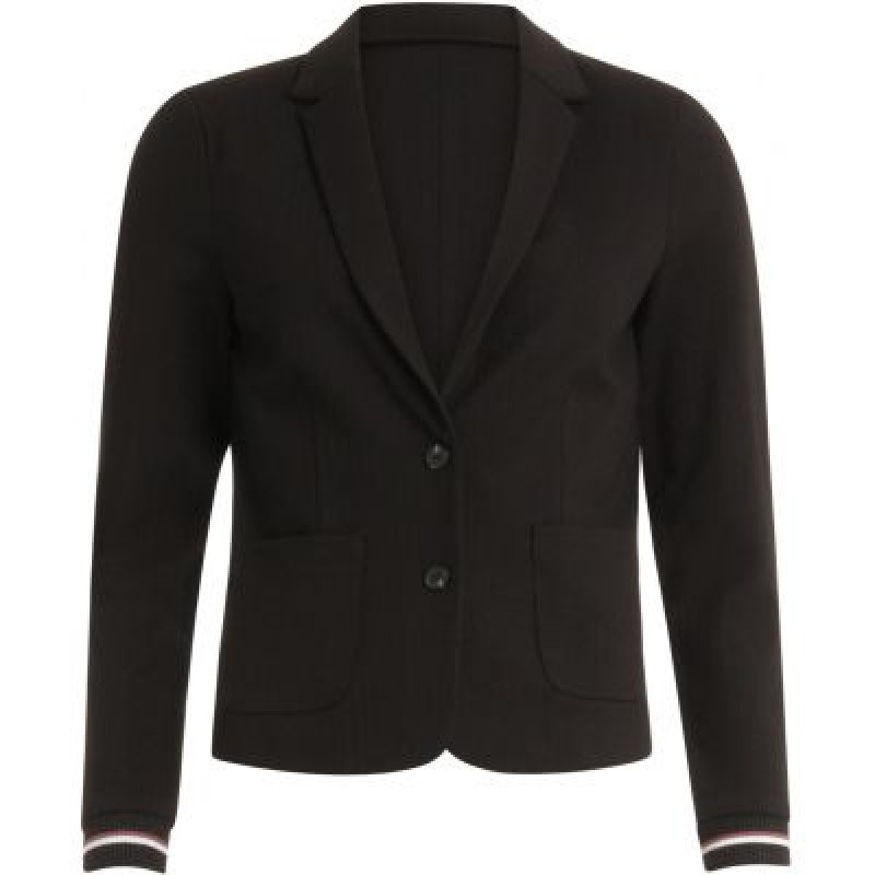 Coster Copenhagen Suit Jacket In Jersey W. Pockets And Rib Cuff Black