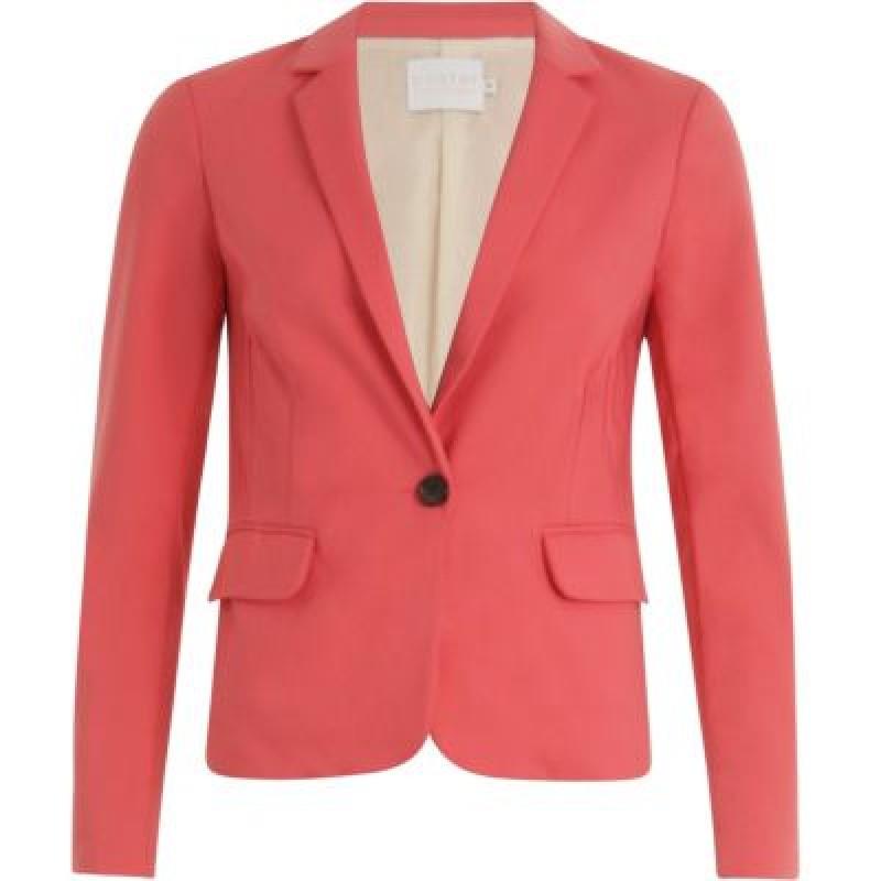 Coster Copenhagen Suit Jacket W. Rib At Side Poppy Pink