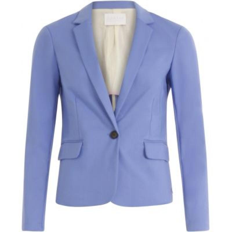 Coster Copenhagen Suit Jacket W. Rib At Side Sky Blue