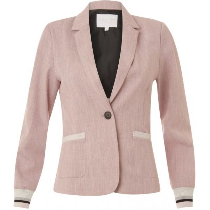Coster Copenhagen Suit Jacket W. Rib At Cuff Rose Melange