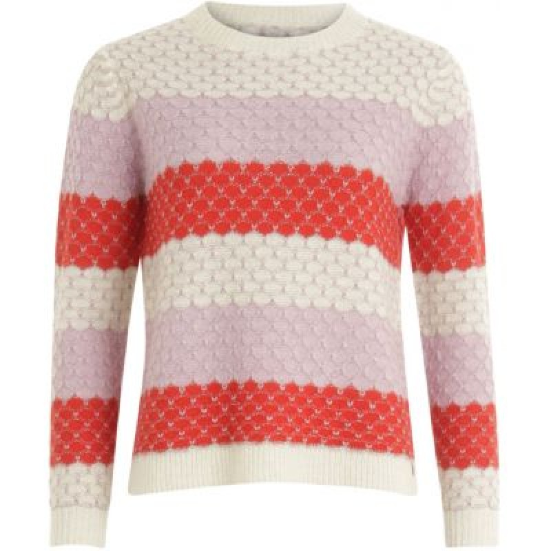 Coster Copenhagen Sweater In Mohair W. Color Mix And Lurex Begonia Multi Stripe