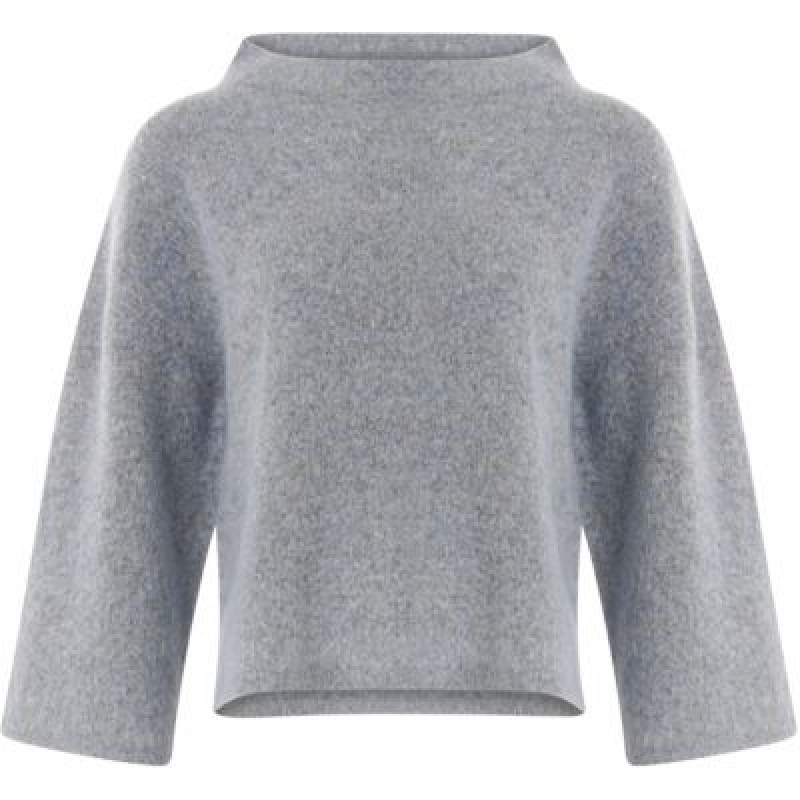 Coster Copenhagen Sweater In Mohair W. High Neck Steel Blue