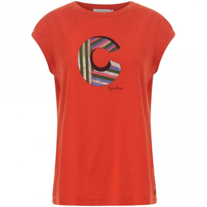 Coster Copenhagen T-shirt W. C Haute Red