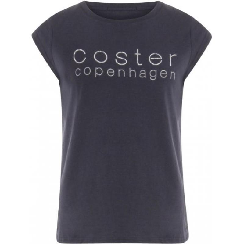 Coster Copenhagen T-shirt W. Coster Logo Dark Blue