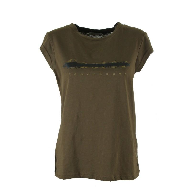 Coster Copenhagen T-shirt W. Coster Logo Dark Olive