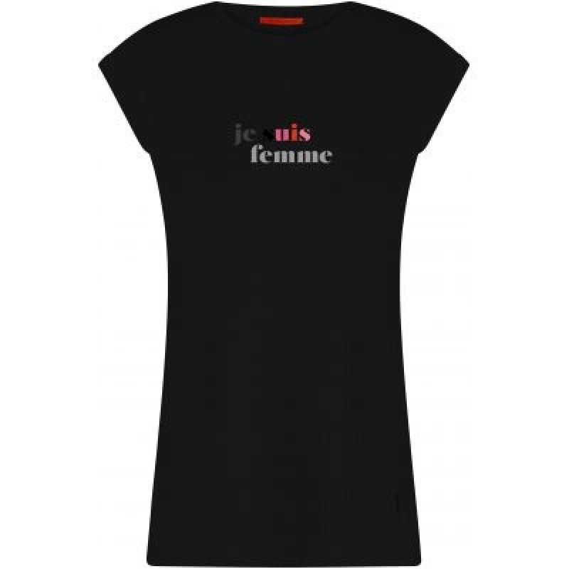 Coster Copenhagen T-shirt W. Je Suis Femme Print Black