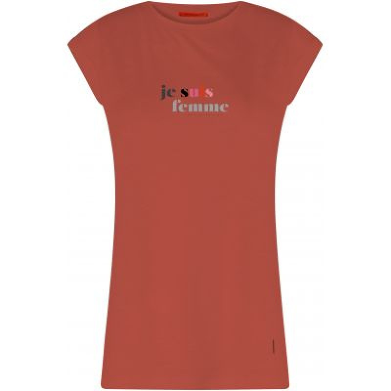 Coster Copenhagen T-shirt W. Je Suis Femme Print Canyon Rose