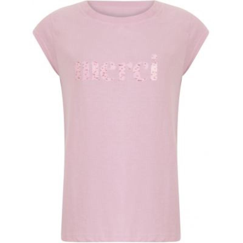 Coster Copenhagen T-shirt W. Merci Print Cloud Pink