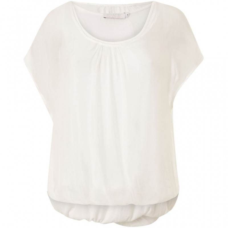 Coster Copenhagen Top in Silk and Jersey White