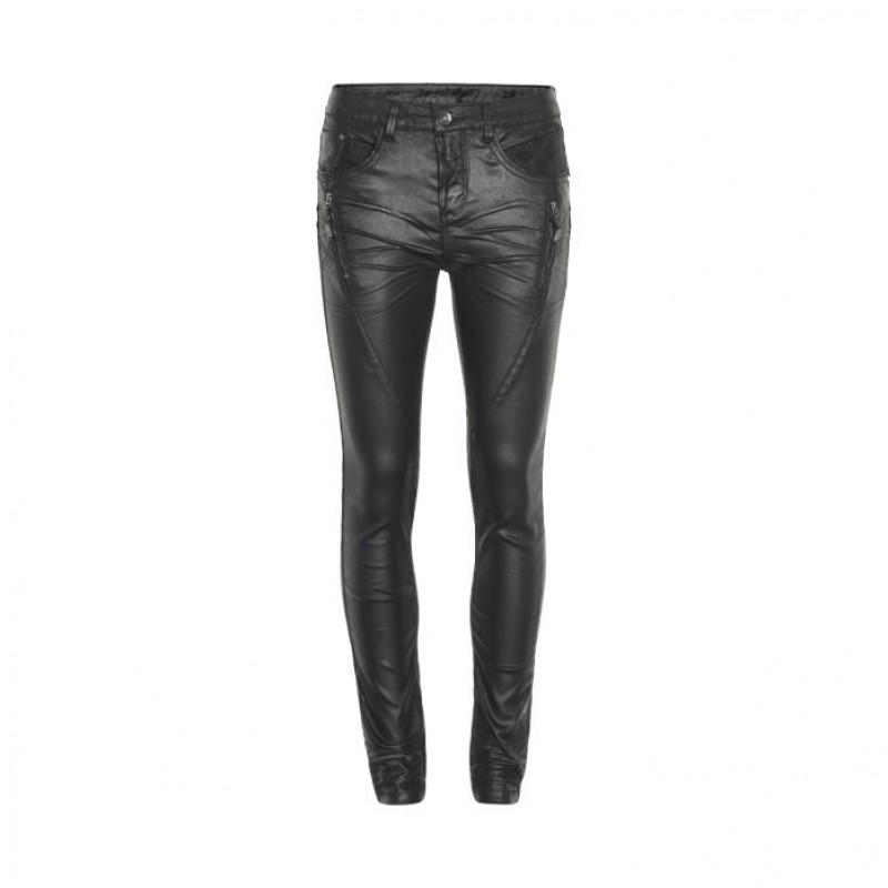 Cream Bibiana Coated Jeans Pitch Black