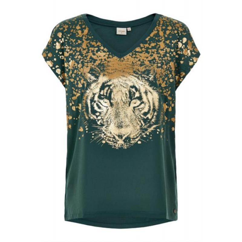 Cream Caty T-Shirt Hunter Green