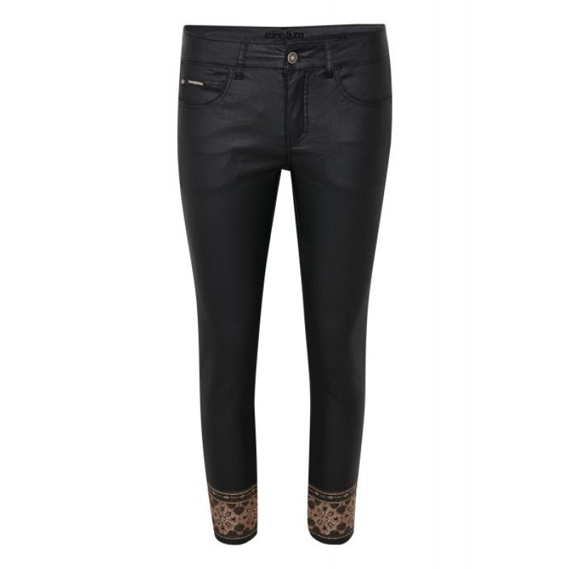 Cream Ditte Pants Pitch Black