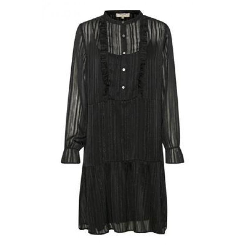 Cream Marie Dress Pitch Black