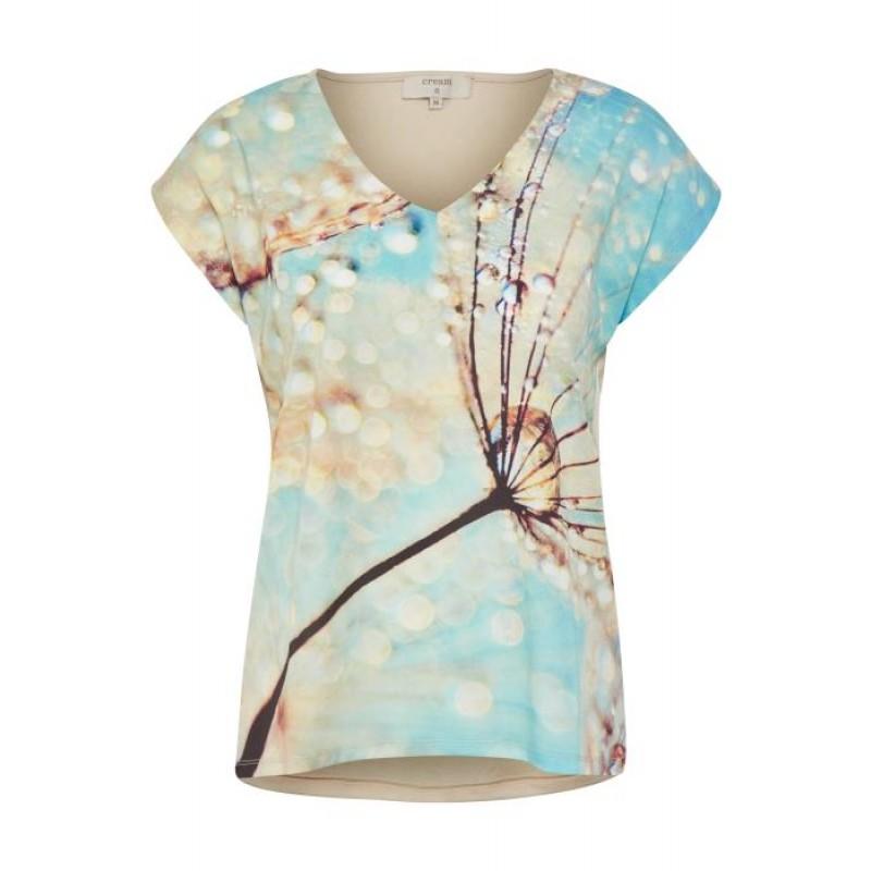 Cream Nanna T-shirt Aqua Grey