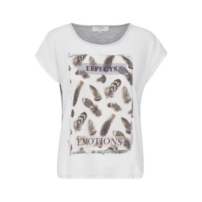 Cream Nanna T-shirt Aqua Chalk
