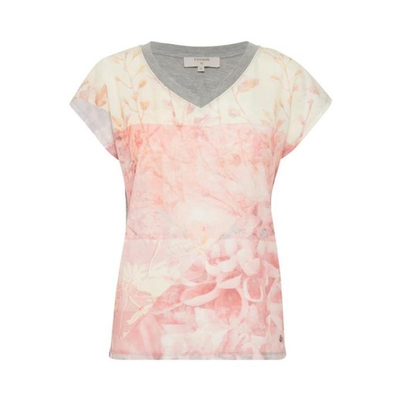 Cream Paula T-shirt Bright Coral