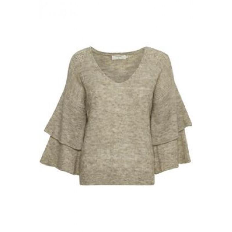 Cream Penelope Knit Pullover Oat