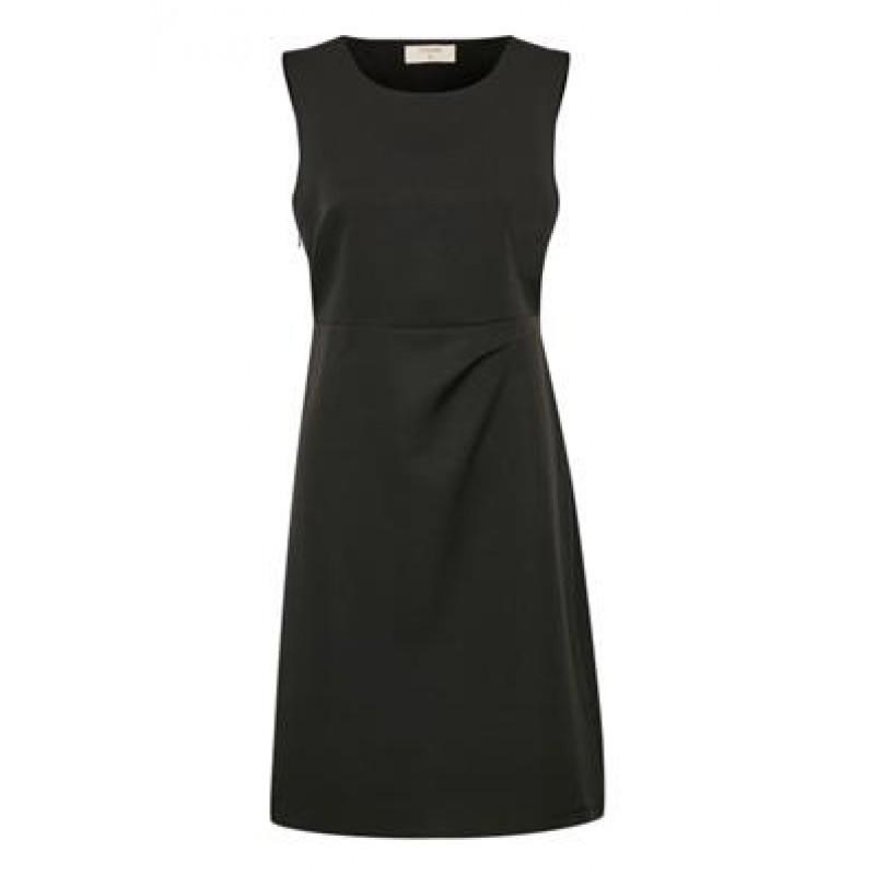 Cream Sascha Dress Pitch Black