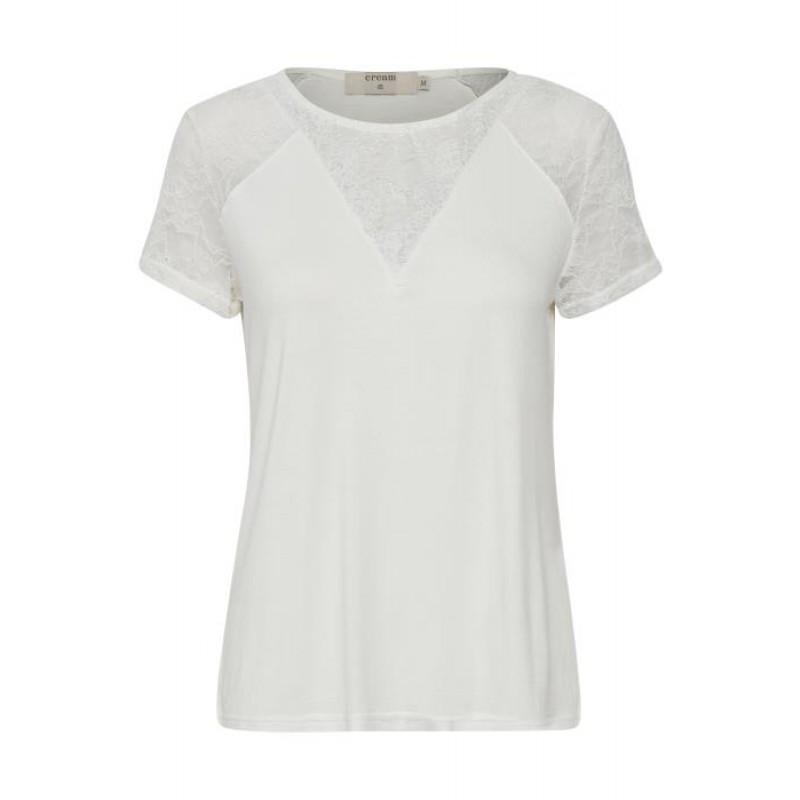 Cream Saseline T-shirt Chalk