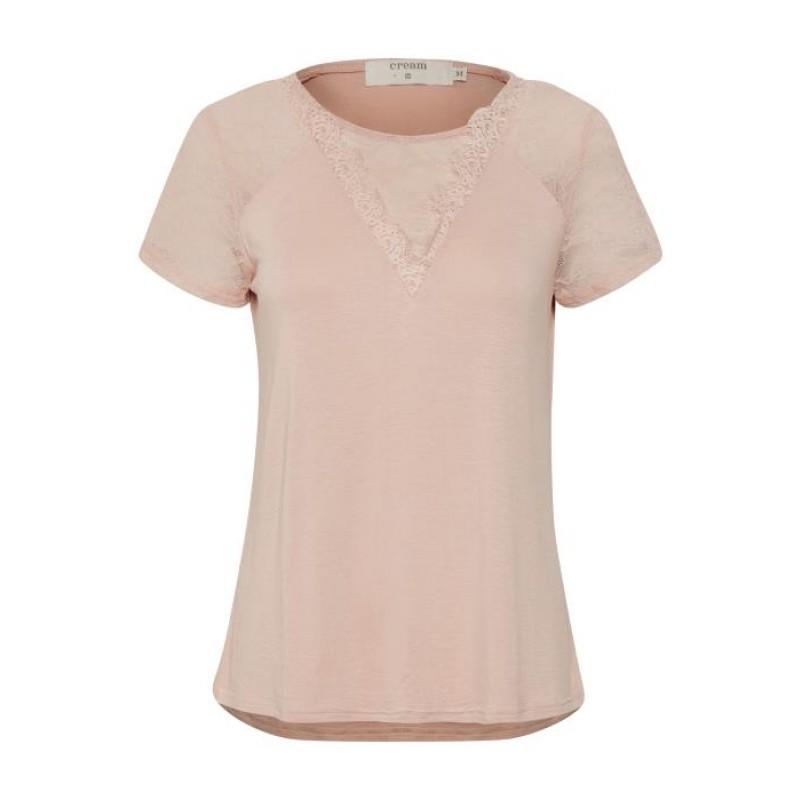 Cream Saseline T-shirt Rose Dust