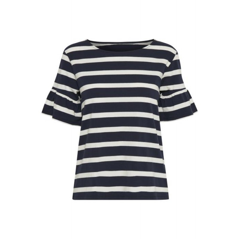 Denim Hunter Aviva Florence T-shirt Sea Navy