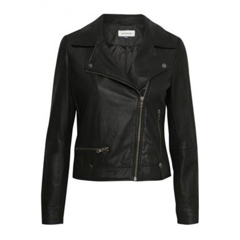 Denim Hunter Bally Leather Jacket Black