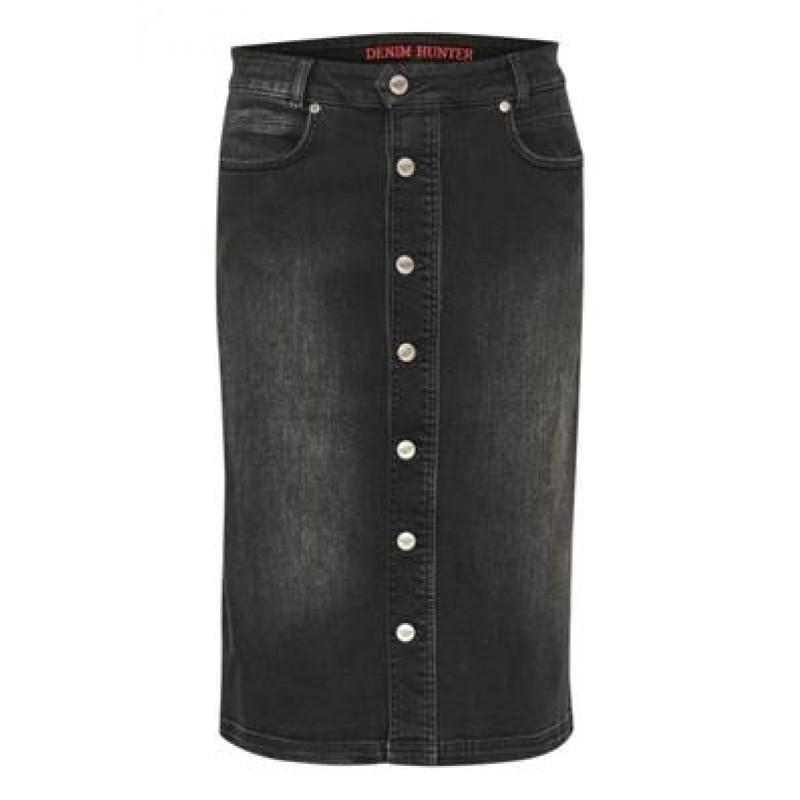 Denim Hunter DHAlmo Denim Skirt Black
