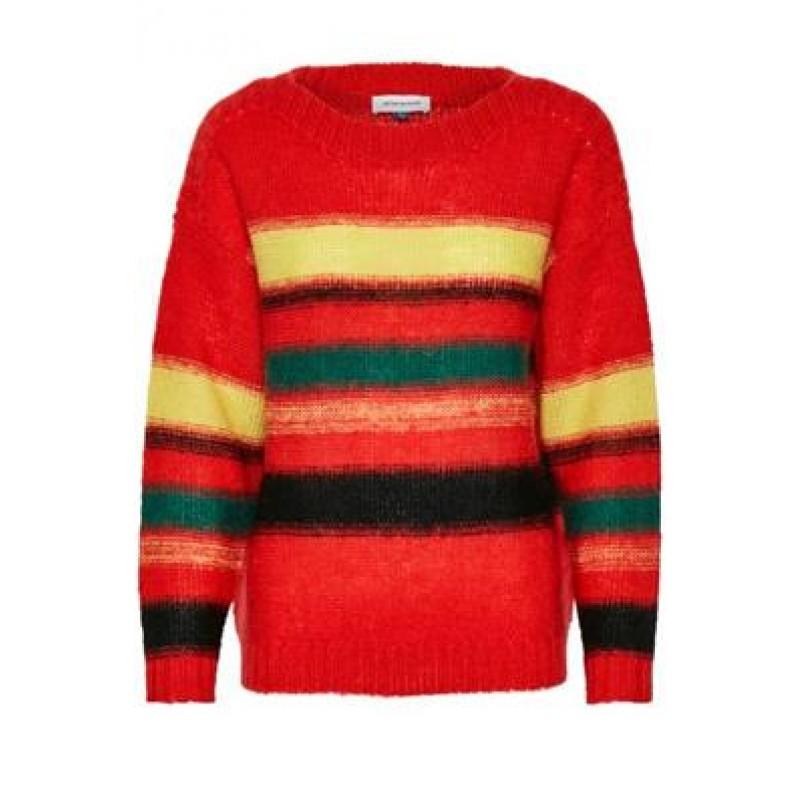 Denim Hunter DHCora Knit Blouse Flamed Scarlet