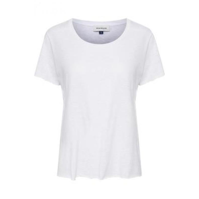 Denim Hunter Luz O Neck Tee Slub Yarn Jersey Optical White