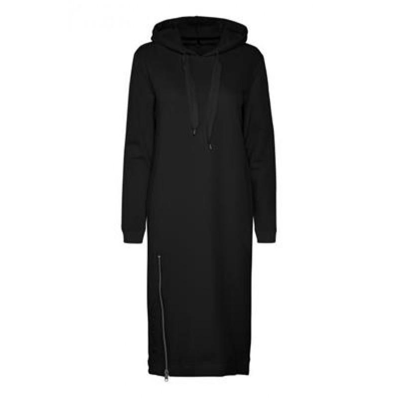 Denim Hunter DHSweat Dress Emb Black
