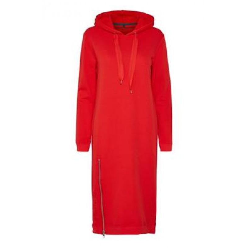 Denim Hunter DHSweat Dress Emb Flamed Scarlet