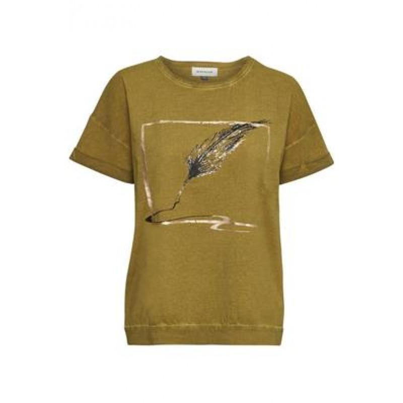 Denim Hunter Feather T-shirt Tapenade