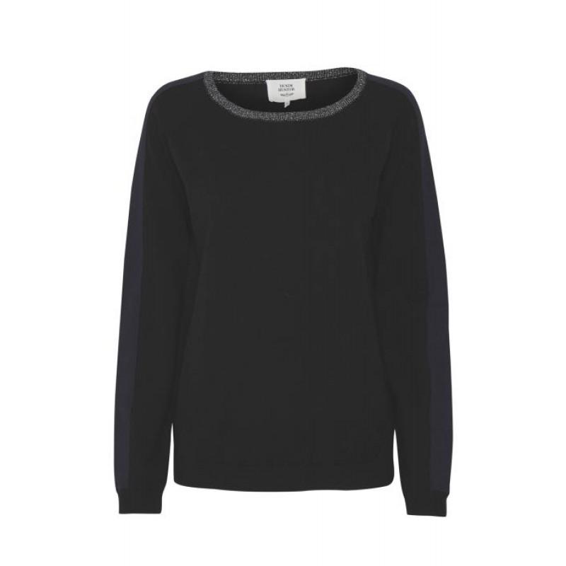Denim Hunter Kiwi Knit Blouse Black/Peacoat