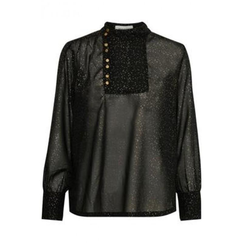 Denim Hunter Lou Glitter Shirt Black