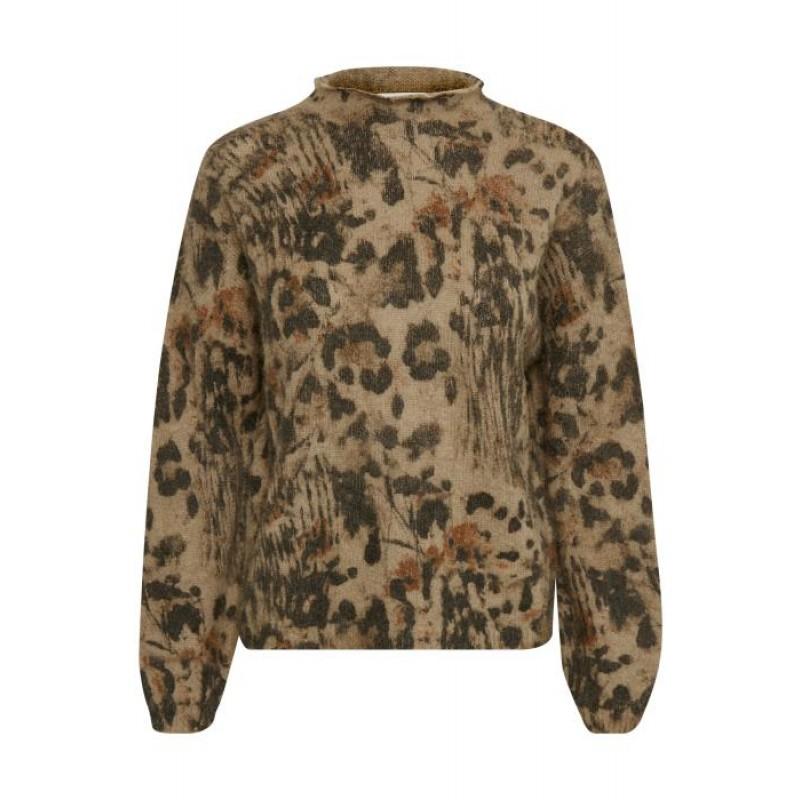 Denim Hunter Monica Leo Pullover Leopard