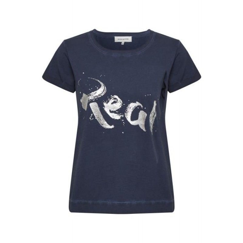 Denim Hunter Real T-shirt SS Dress Blue