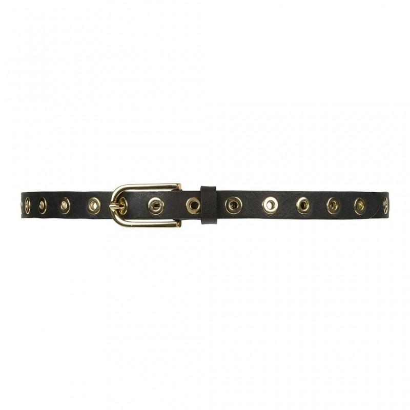 Depeche Narrow Belt Studs Black/Gold
