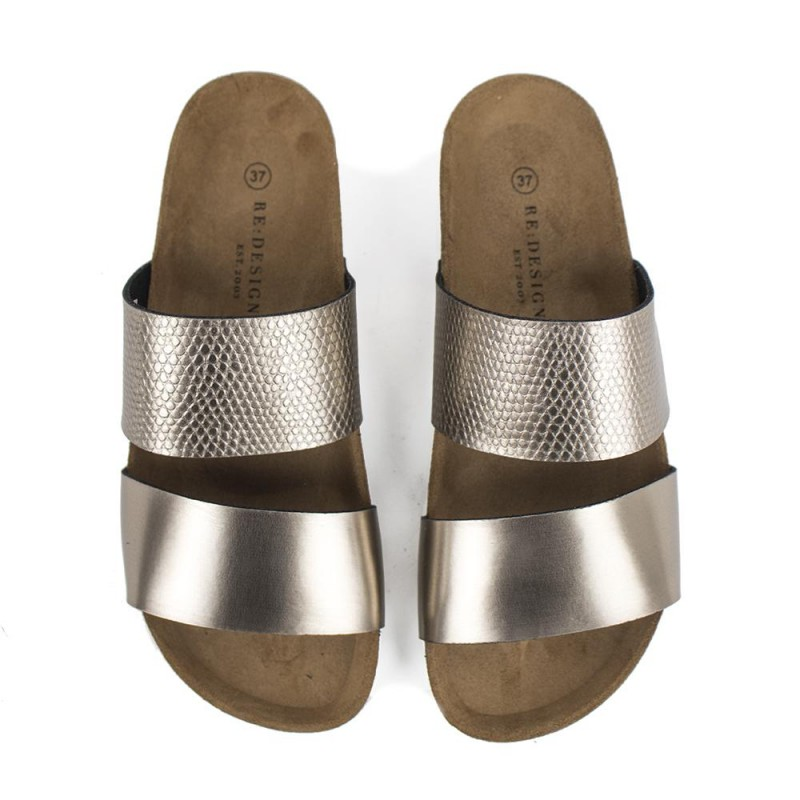 RE:DESIGNED By Dixie Cassavio Shoes Warm Silver