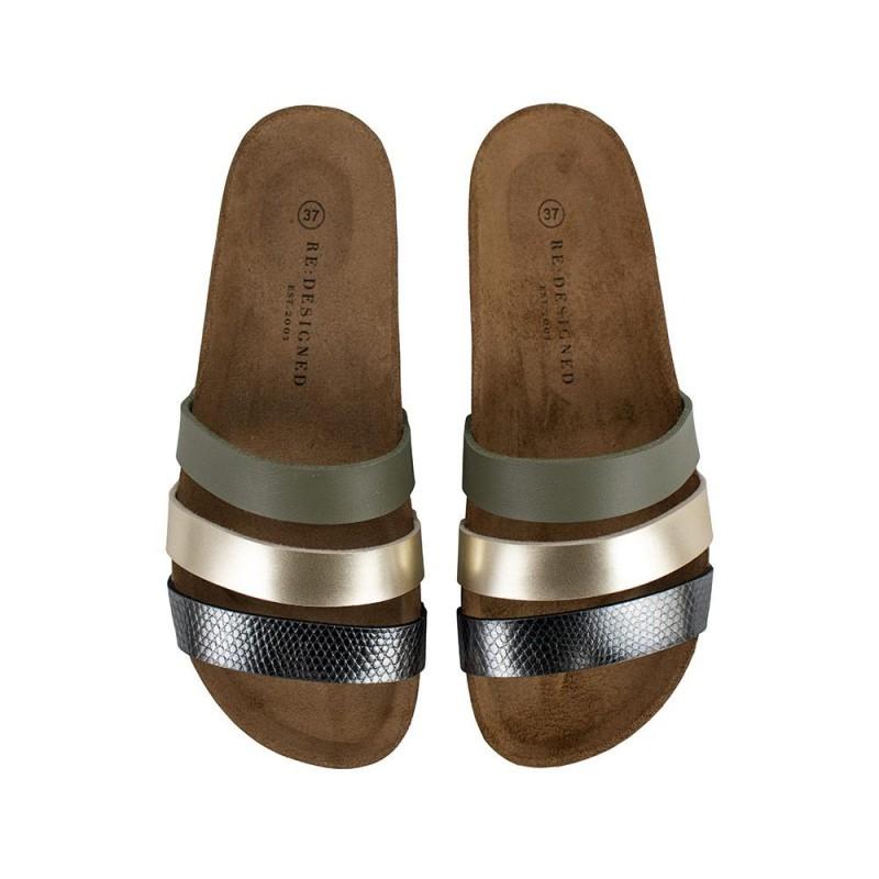 RE:DESIGNED By Dixie Taimi Shoes Khaki
