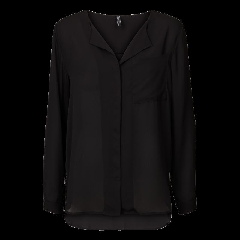 Freequent Minimal Shirt Black