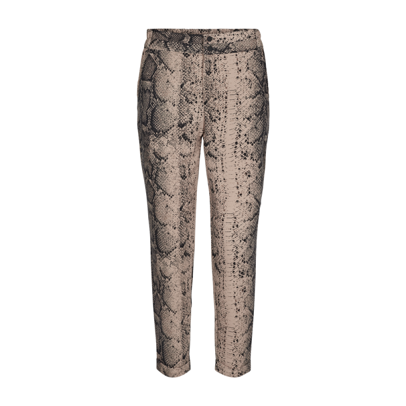 Freequent Nanni Ankle Pants Wild Snake Print
