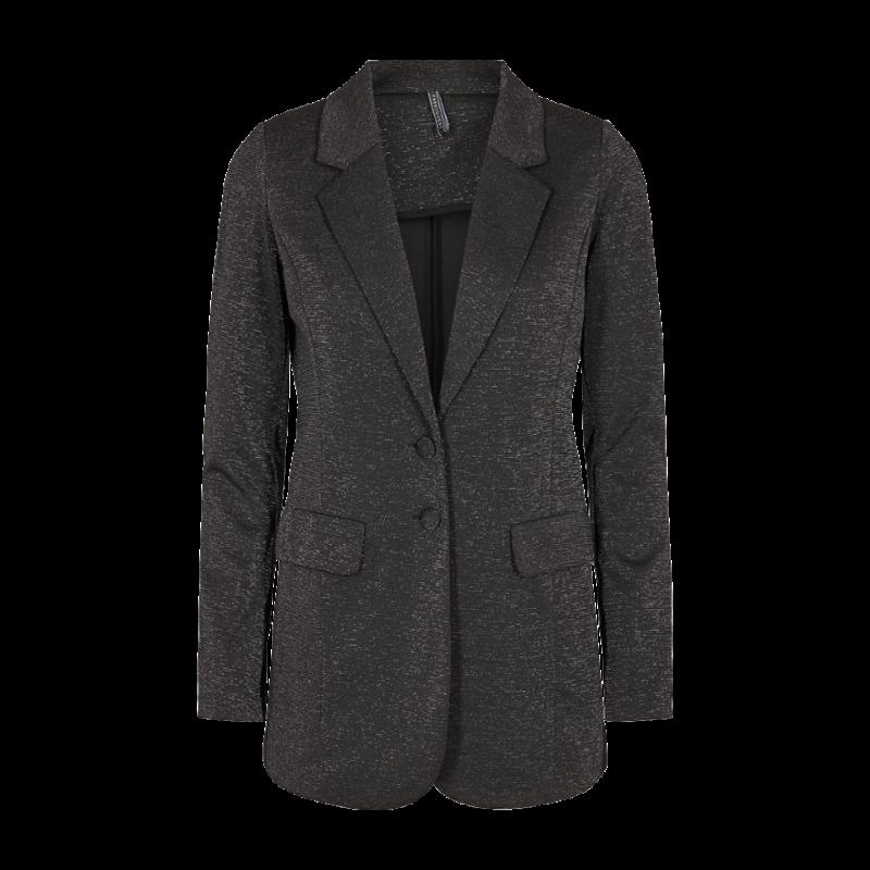 Freequent Nanni Long Jacket Lurex Black W. Silver