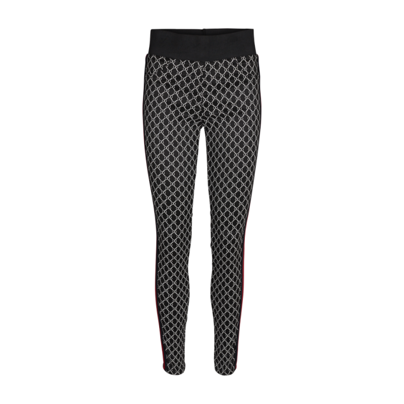 Freequent Shantal Pants Ring Black Mix W. Red Tape