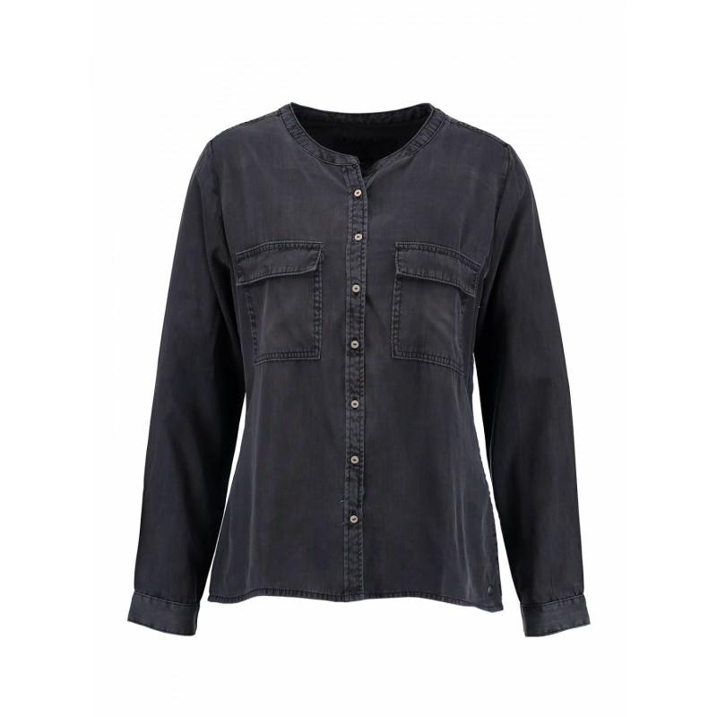 Garcia Ladies Shirt LS Dark Navy