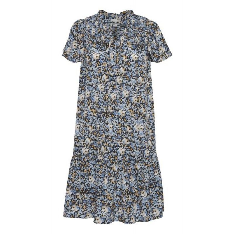 Ichi Luna Dress Coronet Blue
