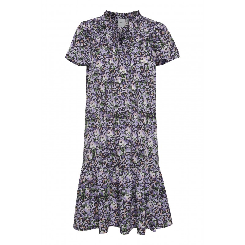 Ichi Luna Dress Violet Tulip