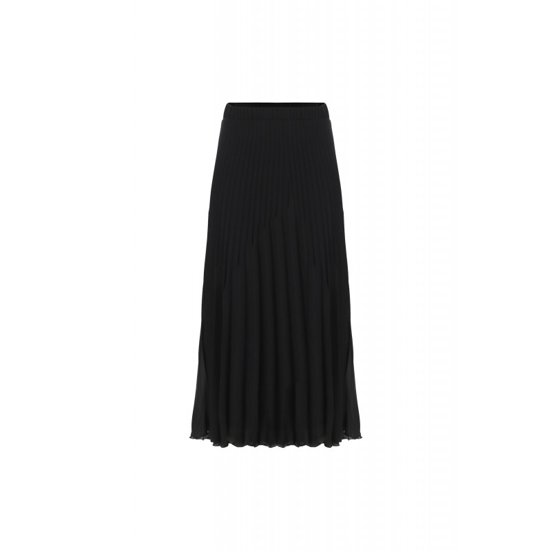 Imperial Plisse Skirt Nero