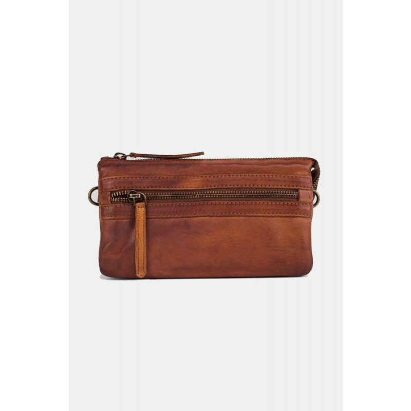 RE:DESIGNED By Dixie Isla Vintage Bag Small Cognac